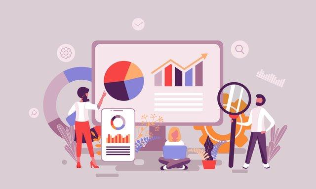 analyzing sales report