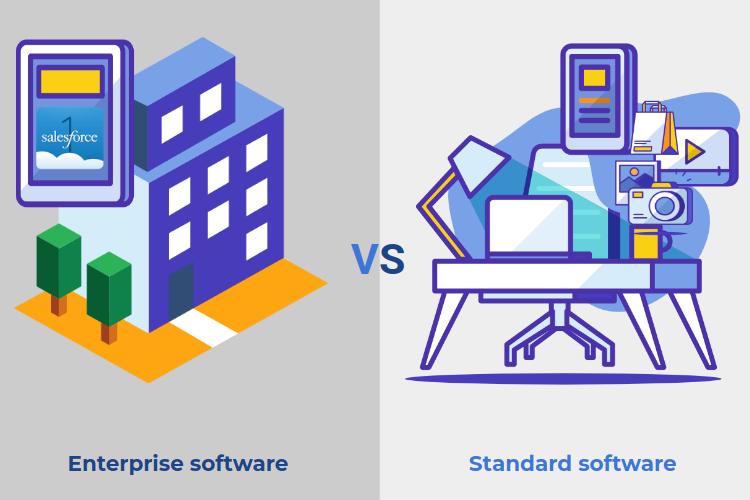 Enterprise software vs standard software image