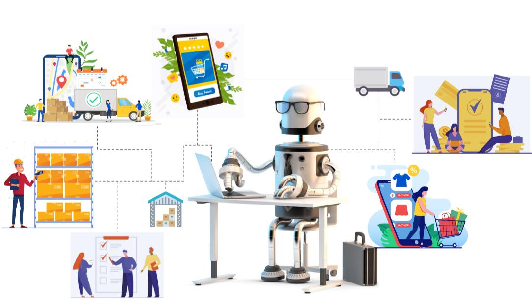 a robot managing all exommerce stuffs